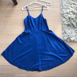 Old Navy Women's Blue Flare A-line Dress